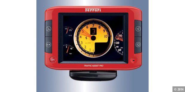 Navi im Ferrari-Design: Der Becker Traffic Assist Pro 7929.