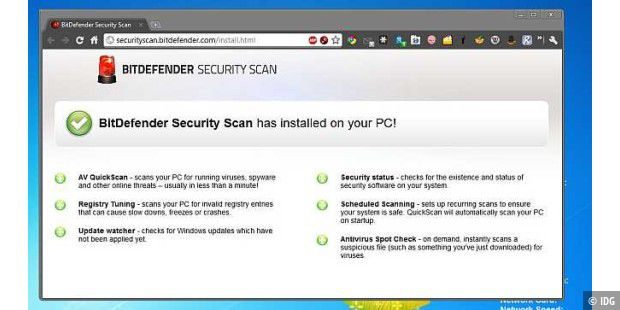 Installation von Bitdefender Security Scan