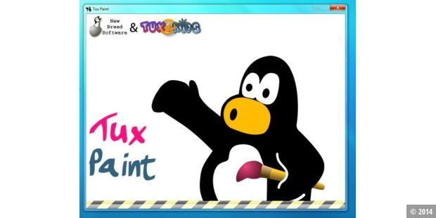tux paint das zeichenprogramm f r kinder pc welt. Black Bedroom Furniture Sets. Home Design Ideas