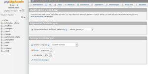 Webseitenentwicklung: phpMyAdmin