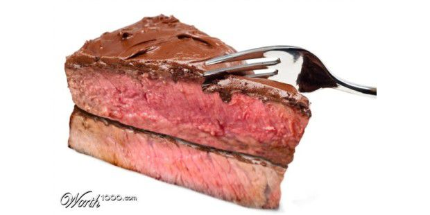 "Steak-""Torte"" (Quelle: Worth100.com)"