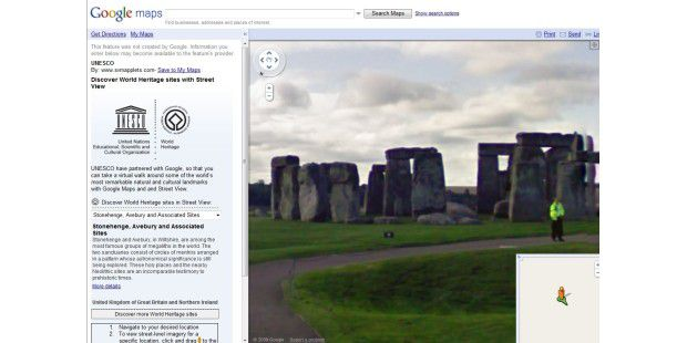 Stonehenge in Google Maps