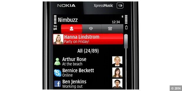 Multimessenger Nimbuzz für Nokia 5800 XpressMusic
