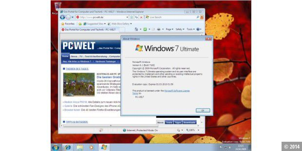 Windows 7 Build 7100 (RC) in Aktion