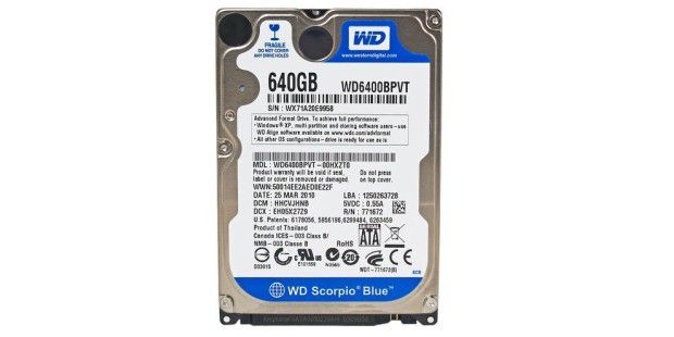 Western Digital Scorpio Blue 640GB WD6400BPVT