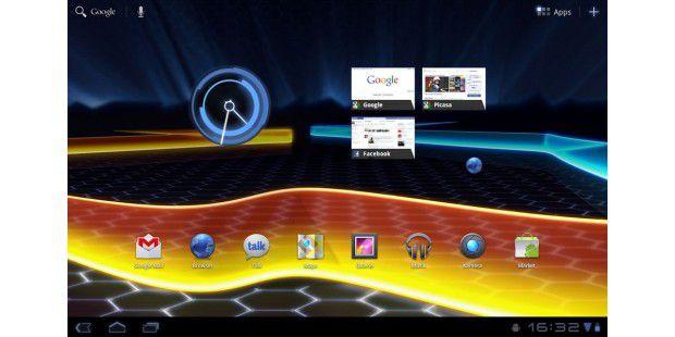 Android 3.0: Startbildschirm