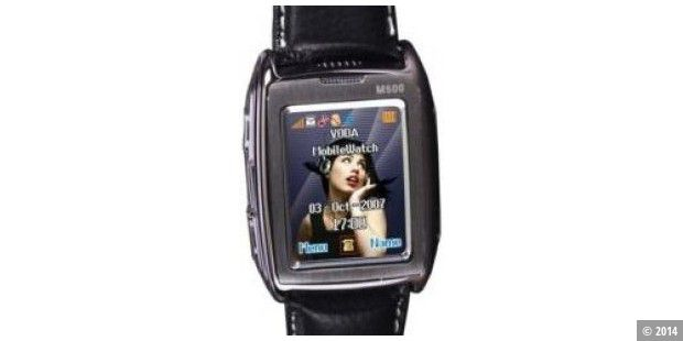 Handy-Armbanduhr M500 Mobile Watch mit Touchscreen