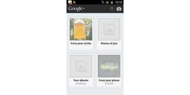 Google+ Android-Bilder