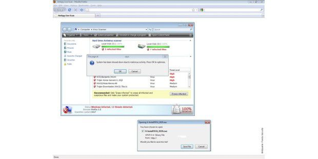 Scareware im Windows-7-Look