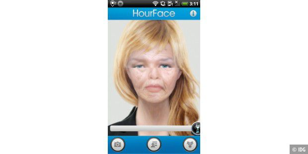 "Android-App ""HourFace: 3D Aging Photo"""
