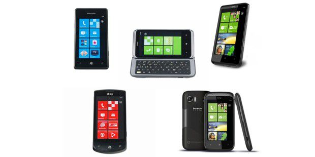 Fünf Smartphones mit Windows Phone 7 im Test