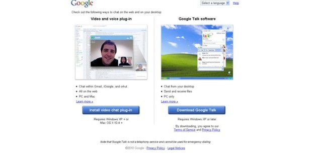 Google Voice- und Video-Chat
