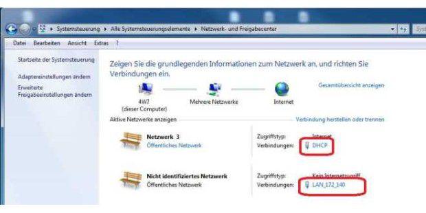 Netzwerk-und Freigabecenter