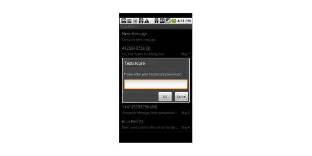 TextSecure (Beta): SMS-Verschlüsselung