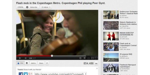 Flash mob in the Copenhagen Metro
