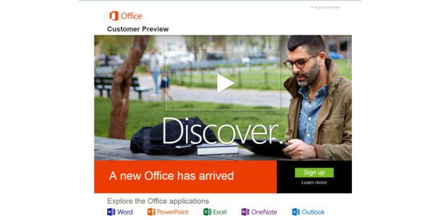 Microsoft Office 2013 Customer Preview