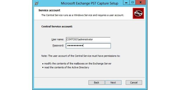 Exchange PST Capture Tool