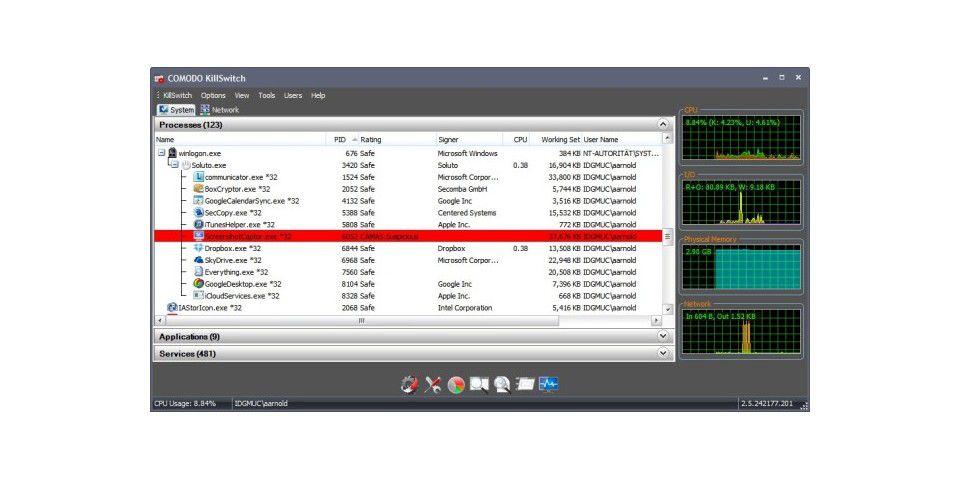 spionage software am pc finden