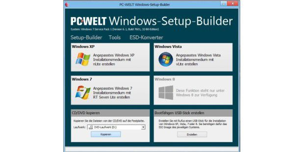 PC-WELT Windows-Setup-Builder - kostenloser Download