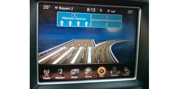 Uconnect 8.4AN im Jeep Grand Cherokee im Test