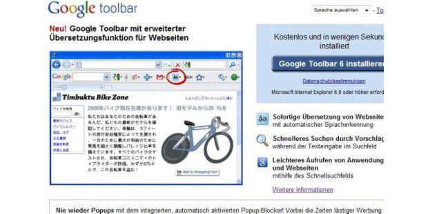 Google Toolbar 6.2