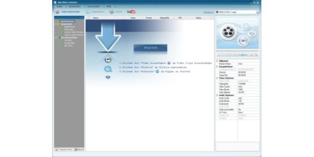 So wandeln Sie Videos mit Any Video Converter Free um