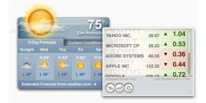 Widgets: Yahoo! Widgets 4.5