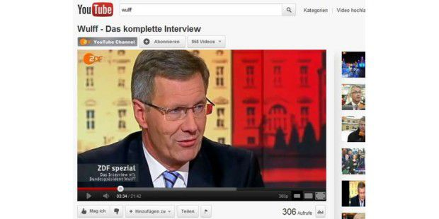 Wulff-Interview auf Youtube