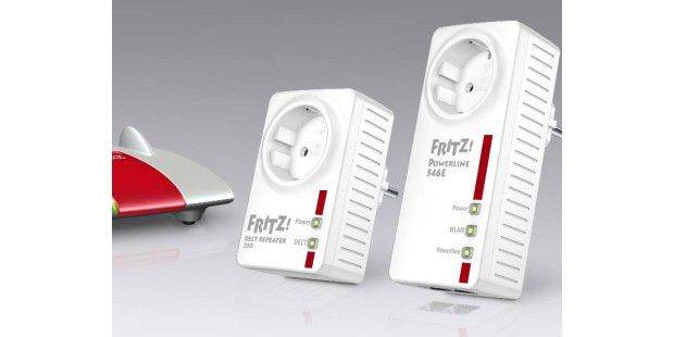 FRITZ!Powerline 546E, FRITZ!DECT Repeater 230 und