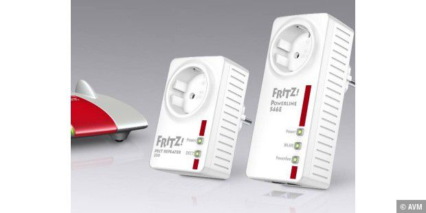 FRITZ!Powerline 546E, FRITZ!DECT Repeater 230 und FRITZ!DECT 230