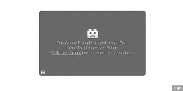 Flash-Plugin stürzt unter Firefox ab