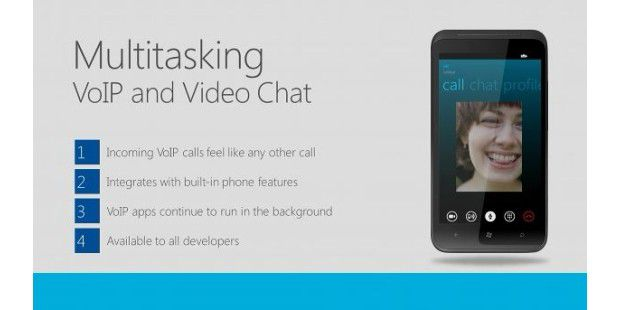 Multitasking VoIP and Video Chat in Windows Phone