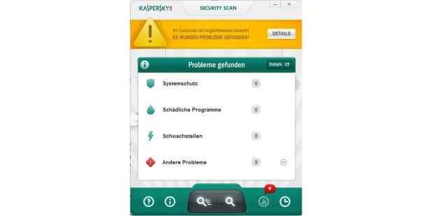 Kaspersky Security Scan erstellt einen ausführlichenScan-Bericht