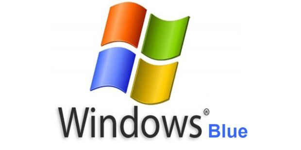 Fiktives Logo von Windows Blue