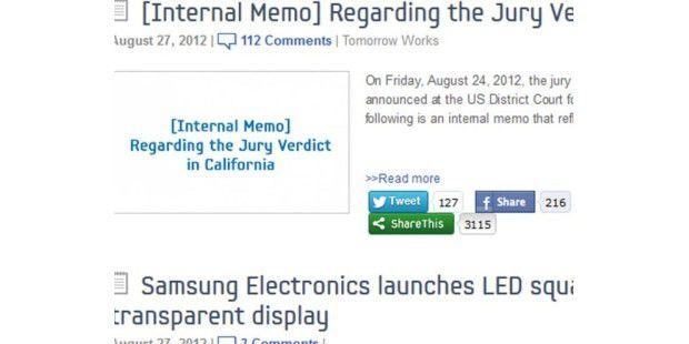 Samsungs richtet eine interne Mitteilung an seine Mitarbeiter