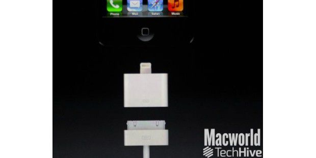 Dock-Connector plus Adapter des neuen iPhones
