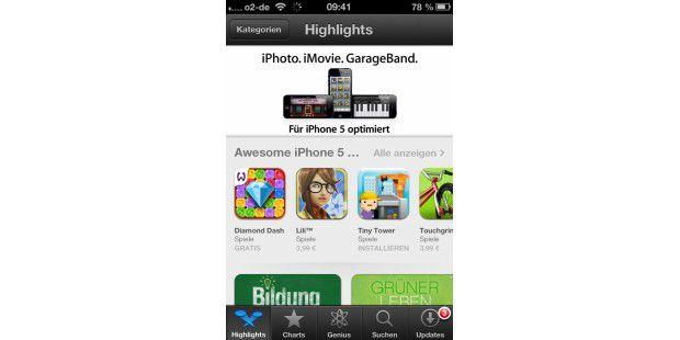 iOS 6: Neu gestalteter AppStore