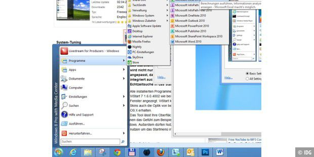Start-Menp in Windows 8