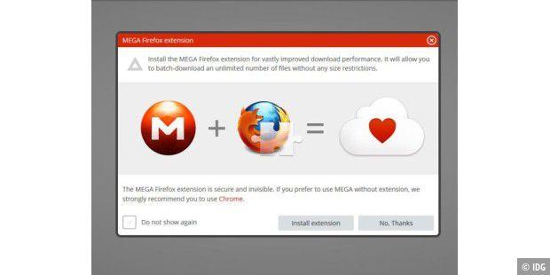 Mega - offizielle Firefox-Erweiterung verfügbar - PC-WELT