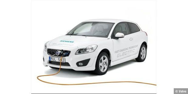 Volvo C30 Electric mit Siemens-Technik: Ladevorgang