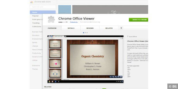 Chrome Office Viewer