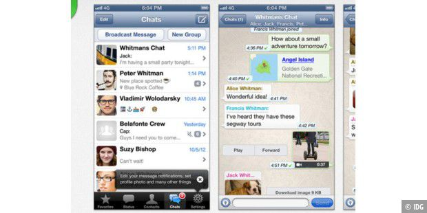 Whatsapp für iPhone in neuer Version