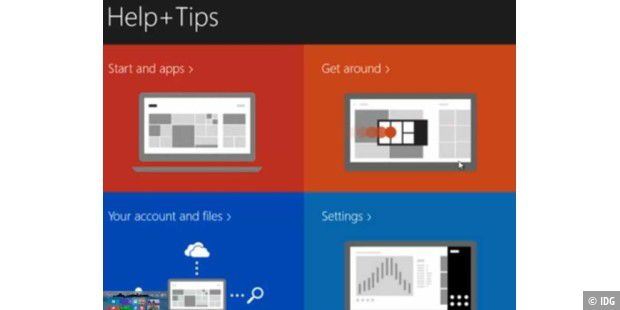 """Help+Tis""-App in Windows 8.1"