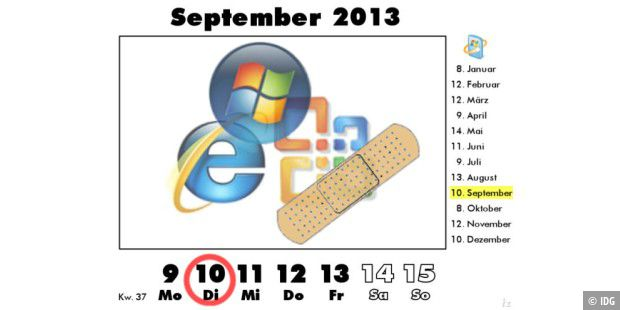 Microsoft Patch Day am 10. September