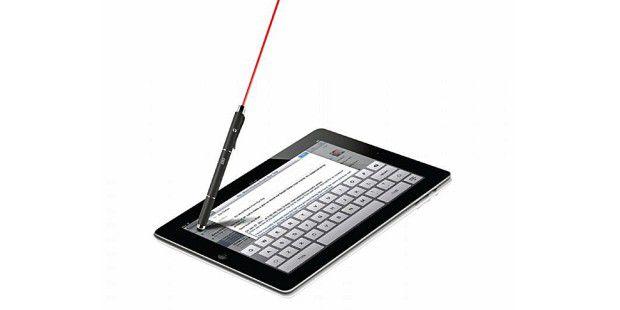 Laserpointer, Eingabestift für Tablets und Kugelschreiberin einem: kapazitiver Touchscreen-Stylus von SBS.