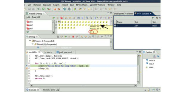 Bildquelle: PC World.Eclipse Parallel Tools ist ein