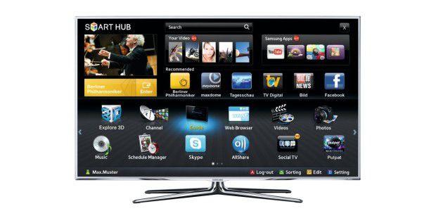 """Smart-TVs bieten mehr als Fernsehen. Bei TV-Geräten vonSamsung können Sie über den """"Smart Hub"""" Maxdome, Youtube undFacebook ansteuern."""