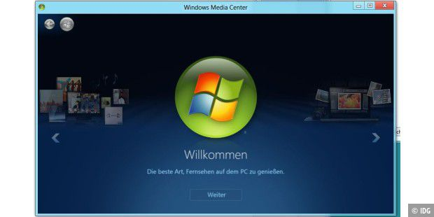 Windows Media Center unter Windows 8