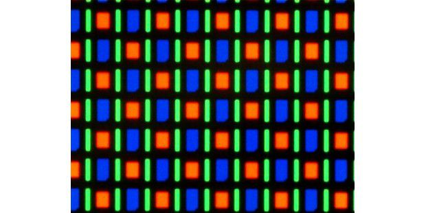AMOLED-Display mit PenTile-Matrix