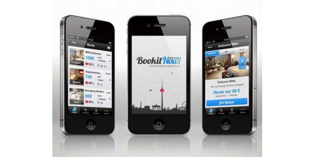 Wer häufig ein Hotelzimmer in letzter Minute sucht, sollte sich die Smartphone-App BookitNow installieren.<BR>